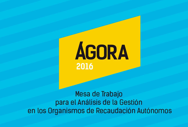 Diseño gráfico de logotipo, identidad corporativa y aplicaciones gráficas Ágora 2016