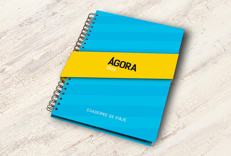 Maquetación folleto y memorias corporativas Ágora 2016